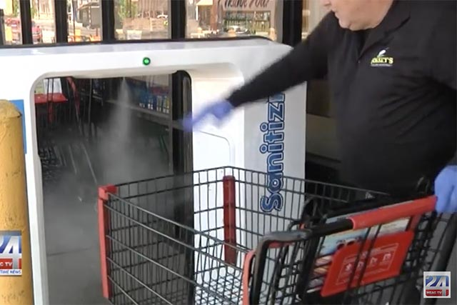 Dorsey's Supermarket Installs Cart and Basket Sanitizer